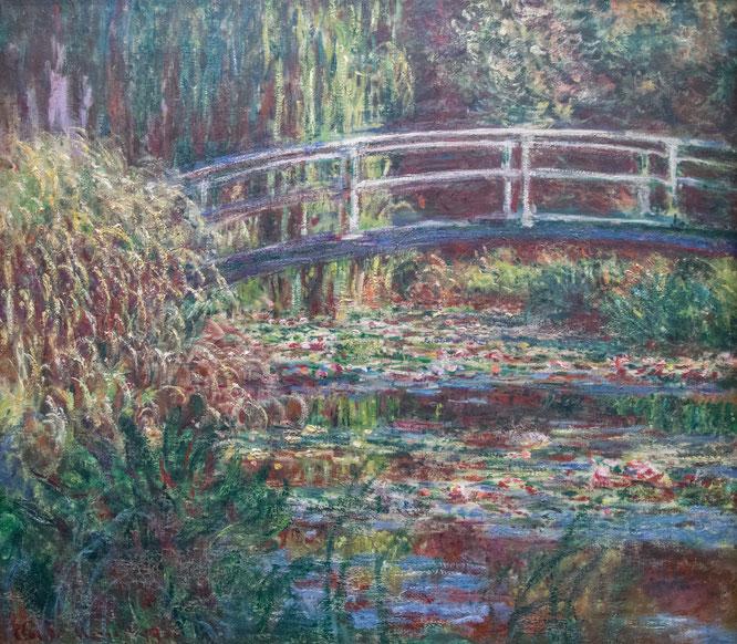 《睡蓮の池、バラ色の調和》1900年