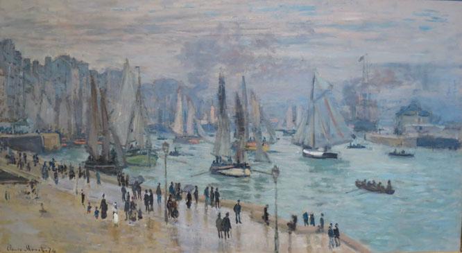 Le Havre, Bâteaux de Peche Sortant du Port 1874