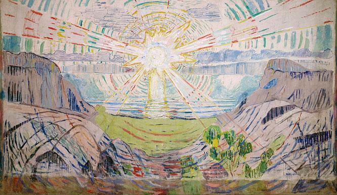 エドバンド・ムンク「太陽」(1910-1911年)