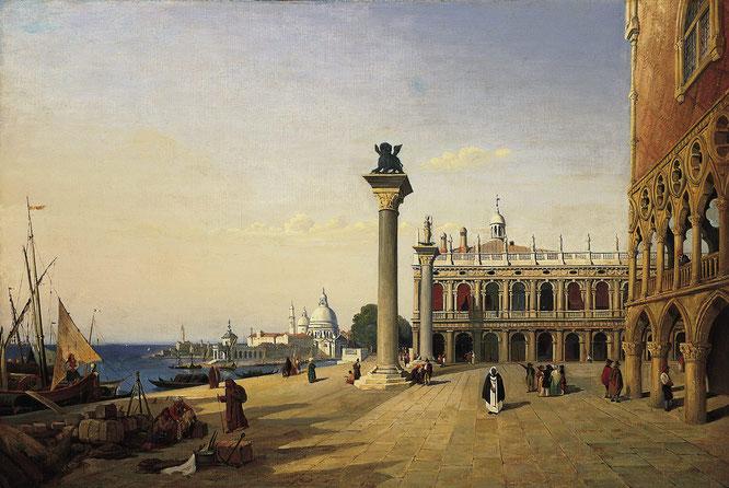 《ヴィネツィア、ピアッツェッタ》1835年