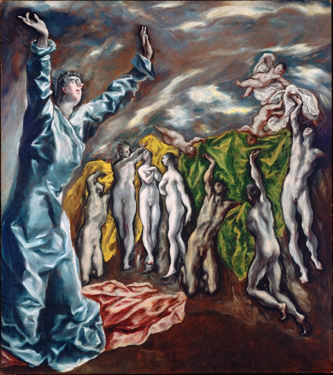 エル・グレコ《第五の封印の扉》1608-1614年