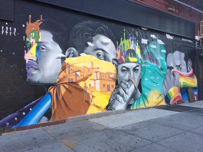 マンハッタン、チェルシー通りのストリートアート。
