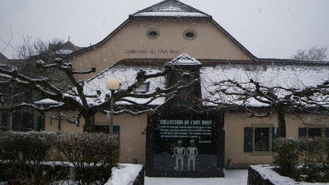 ローザンヌ市にある「アール・ブリュット・コレクション」外観。