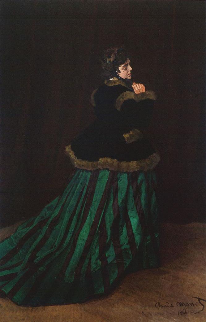 《緑衣の女性》1866年