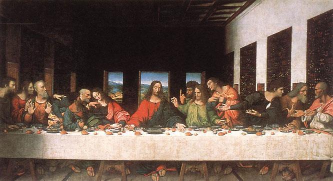 アンドレア・ソラリ作《最後の晩餐》1520年,キャンバスに油彩