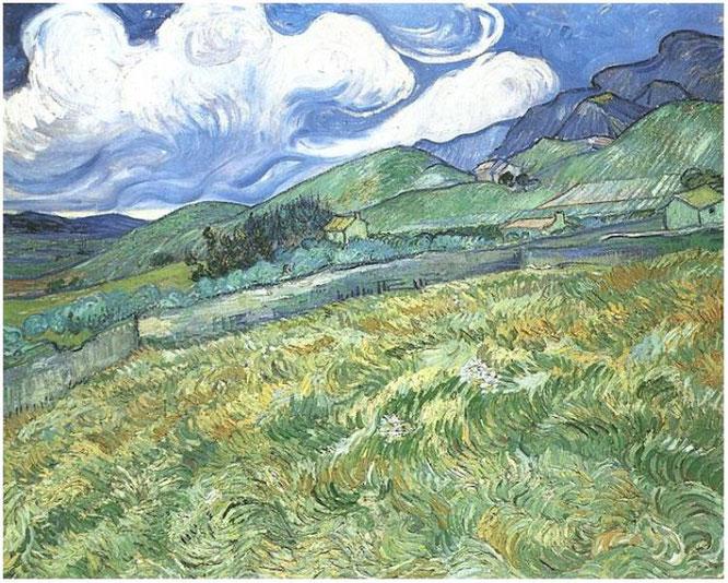 ヴィンセント・ヴァン・ゴッホ「サン・レミーの背後にある山岳風景」(F611)(1889年)