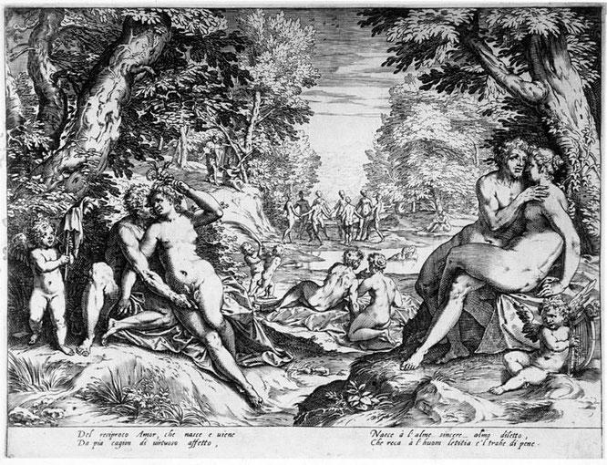 アゴスティーノ・カラッチ『両思い、または黄金時代の愛』(1589 - 1595年)
