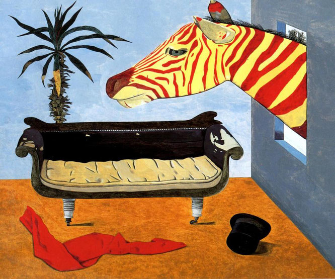ルシアン・フロイド《The painter's Room》1944年,CURIATORより