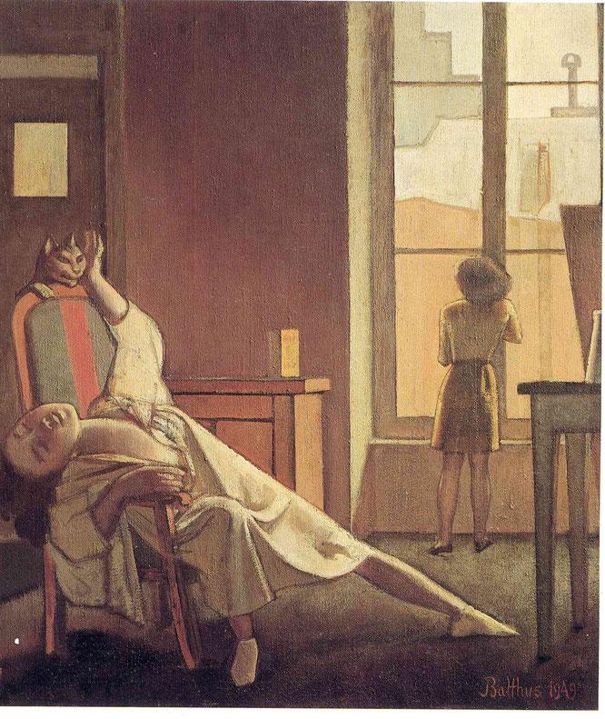 ※2:バルテュス《決して来ない時》(1949年)