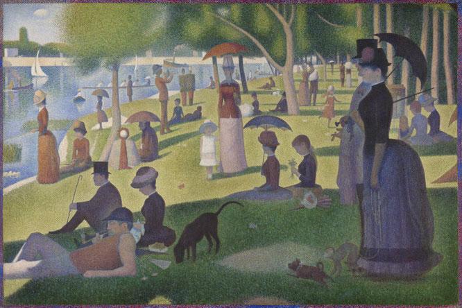 ジョルジュ・スーラ「グランド・ジャット島の日曜日の午後」(1884-1886年)