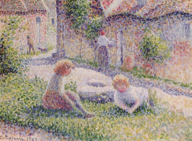 《農園の子ども》1887年
