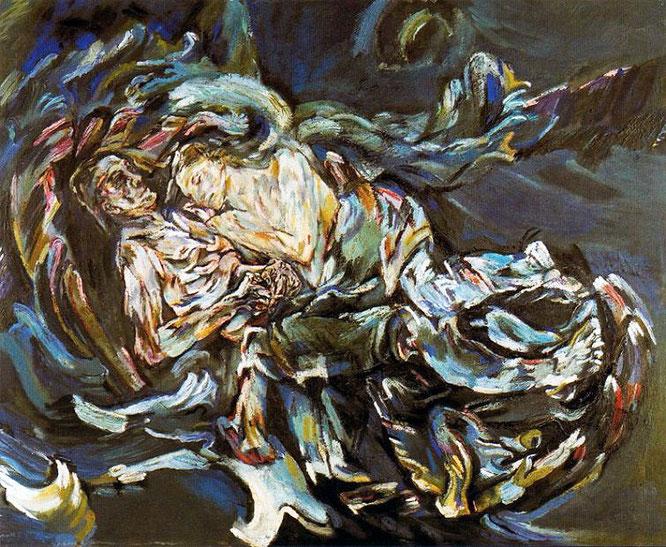 オスカー・ココシュカ『風の花嫁』(1917年)