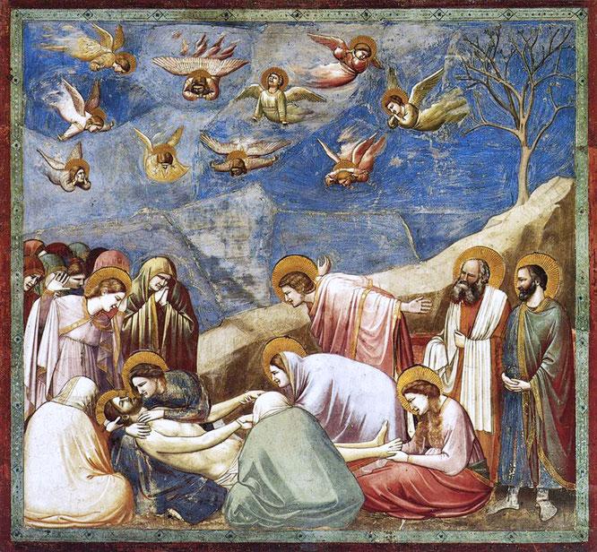 《キリストの哀悼》,1304-1306年
