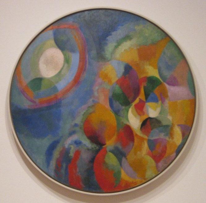 ロベール・ドローネー「同時のコントラスト:太陽と星」(1912-1913年)