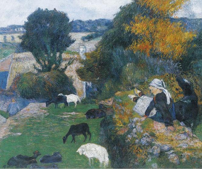 ポール・ゴーギャン「ブルターニュの羊飼い」(1886年)