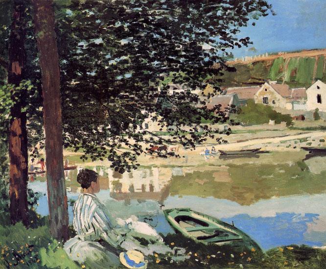 《セーヌ河岸、ベンヌクール》1868年
