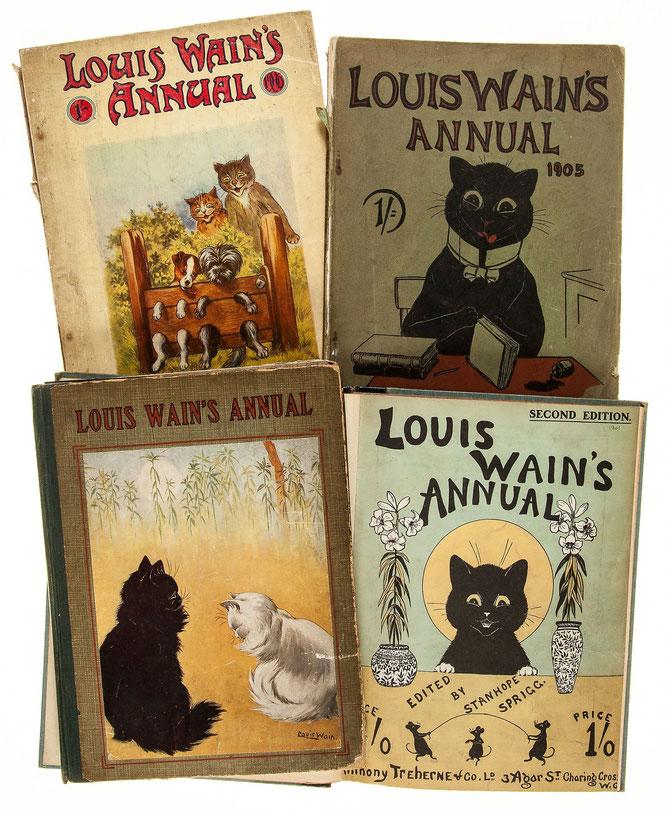 1年間のルイス・ウェインの作品収録した作品集『ルイス・ウェイン年鑑』。