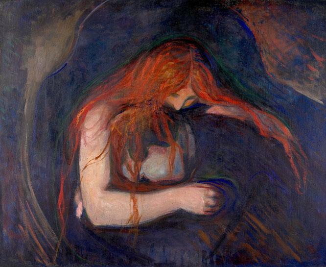 エドヴァルド・ムンク「愛と痛み」(1895年)