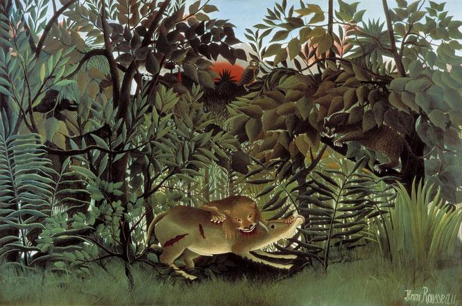 アンリ・マティス《飢えたライオン》1905年