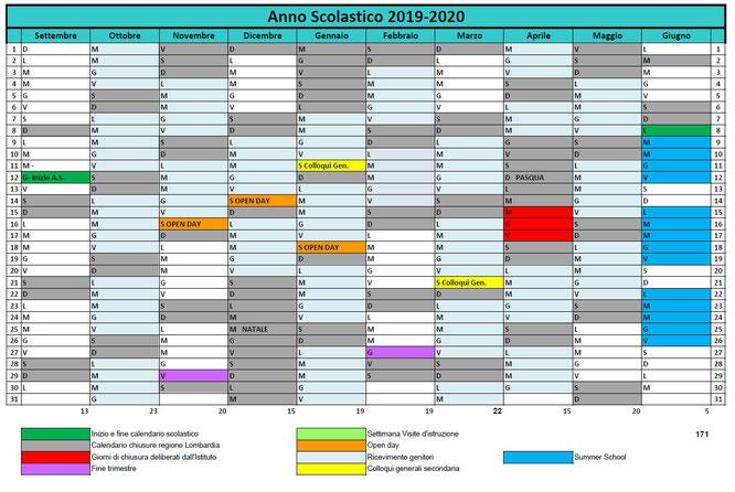 Calendario Gennaio 2020.Calendario Scolastico 2019 2020 Istituto Rosetum