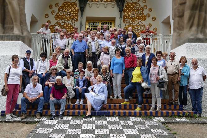 69 Sparkassen-Senioren auf der Mathildenhöhe in Darmstadt