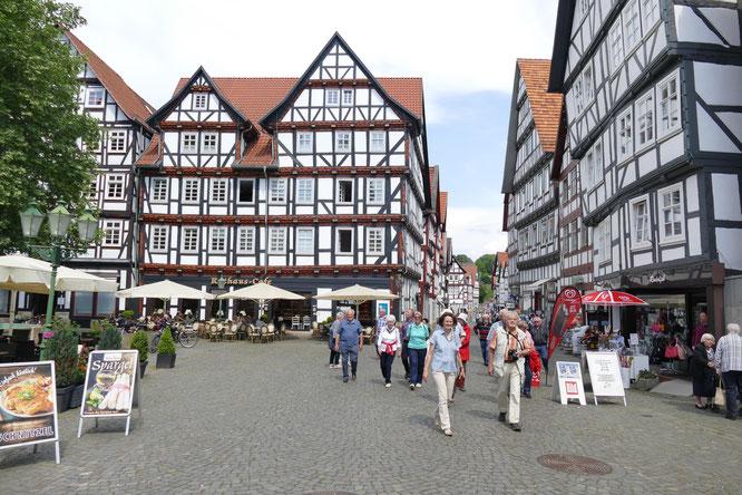 Die historische Altstadt in Melsungen (Foto: Erich Hohn)