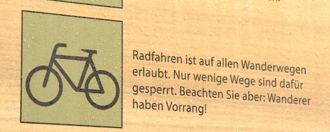 Nationalpark Harz: Ein offizielles Schild!
