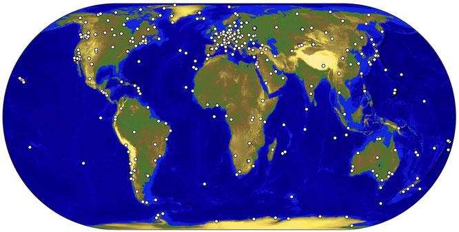 Tracking network des IGS im Jahr 2011