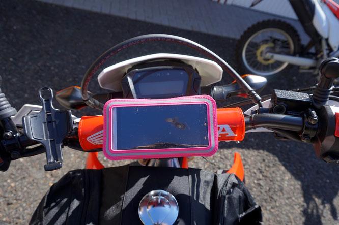 Smartphone halterung CRF250L