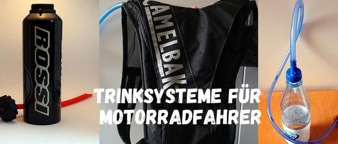 Trinksysteme für Motorrad Fahrer