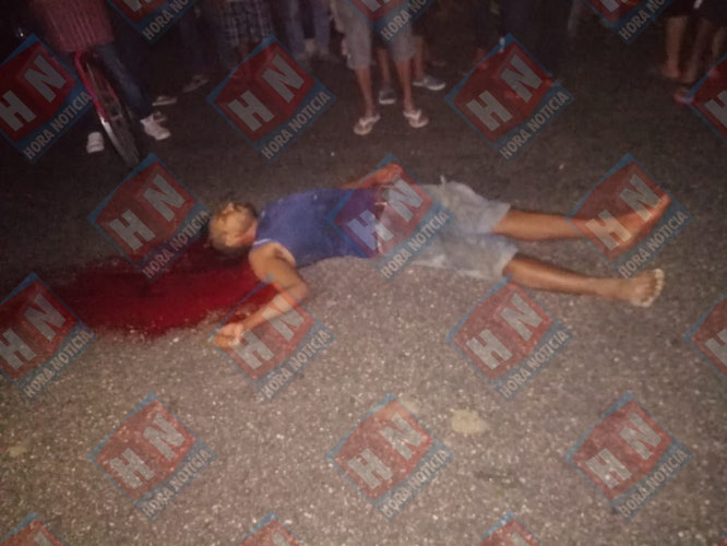 Con el tiro de gracia le arrebataron la vida en plena principal avenida del poblado.
