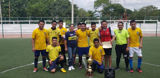 Campeón el equipo de Brasileiros.
