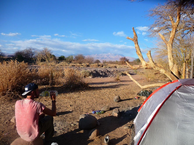 Camping in San Pedro De Atacama in my £15 spaceman tent