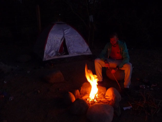 depending on where you are camping, a fire can make a big difference