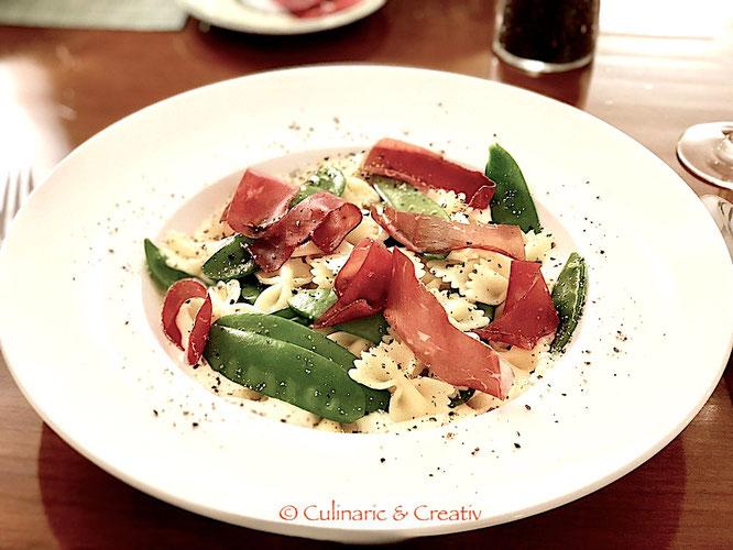 Farfalle mit Bündner Fleisch und Ricotta-Sauce