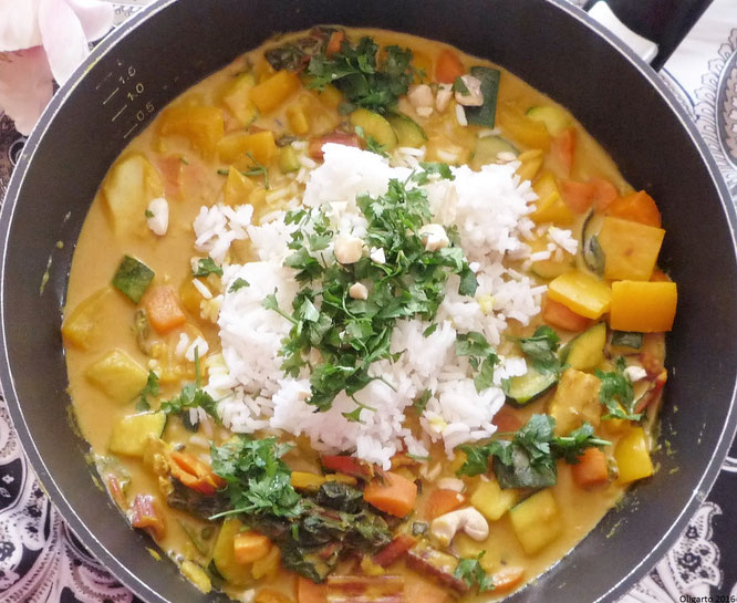 Gemüse Curry mit Reis Oligarto Kochen Rezepte
