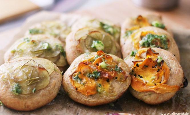 Salziges mit Olivenöl gebacken Faden mit Gemüse Oligarto Rerzepte Blogzine