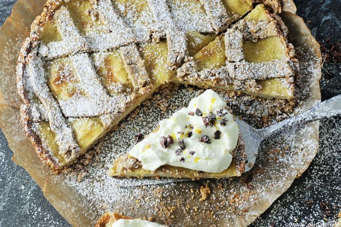 Leichet Zitronentarte ohne Mehl Oligarto Backen mit Olivenöl