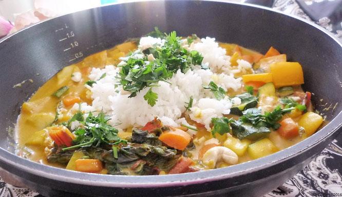 Curry mit Reis mit Fisch Oligarto Blogzine Rezepte
