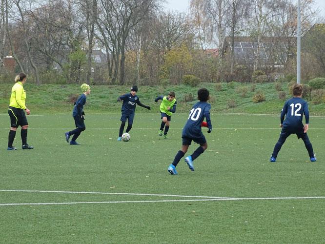 Die neu gegründete D II ist als einziges Team in der Kreisklasse A noch ohne Punktverlust. 31:6 Tore / 15 Punkte - Platz eins ! Foto: Privat