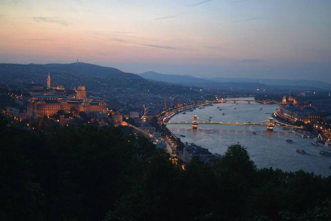 Budapest, Gellértberg, Brücke, Donau