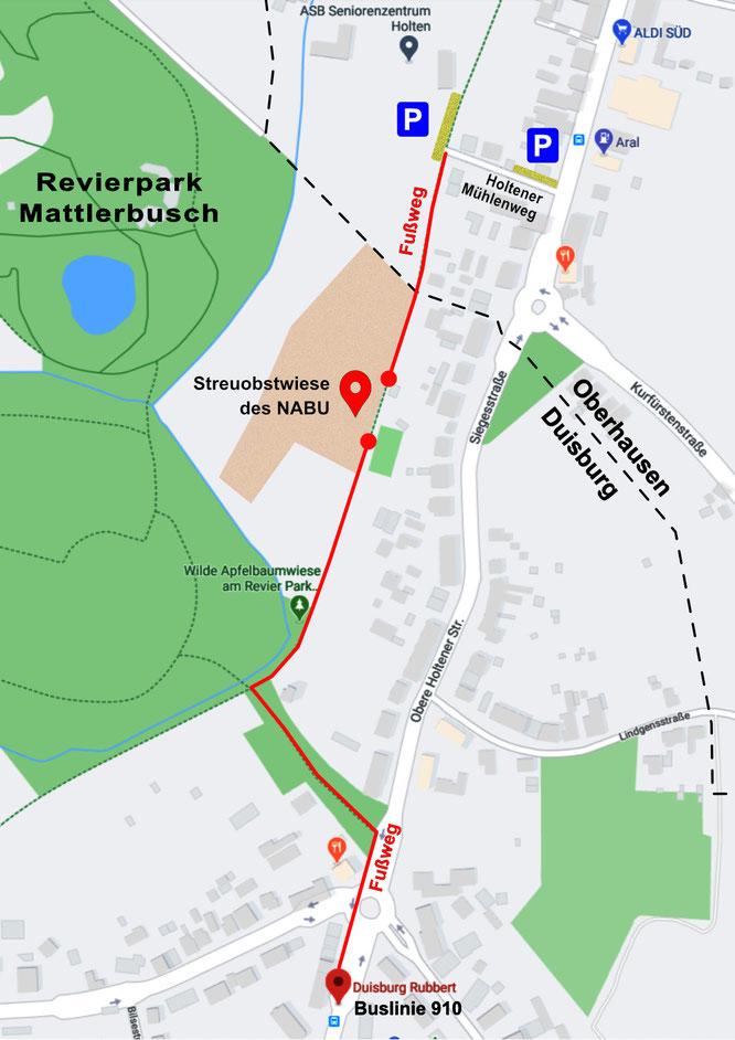Quelle: www.google.de/maps (Texte und Grafikelemente nachträglich eingefügt)