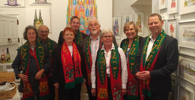 v.l.n.r.: Anna Maria Heller, Horst Heller, Ingrid Vogt, Klaus Kümmel, Karl Heinz Piel, Sibille Manske, Waltraud Piel, Udo Beyers