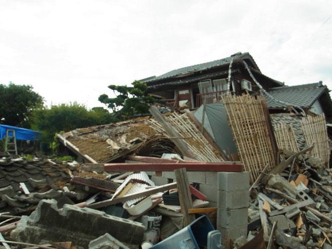 熊本地震益城町被災風景