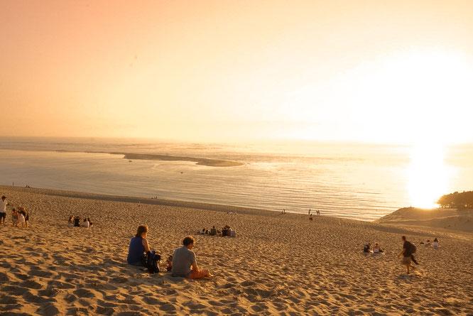 Abendstunden auf der Dune du Pilat - auch Locals kommen hier gerne zum Entspannen und Abschalten hin