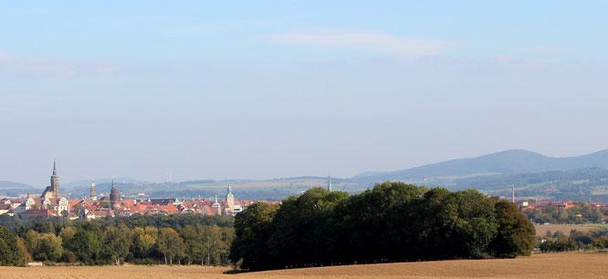 Bautzen und die nördliche Kette des Oberlausitzer Berglandes