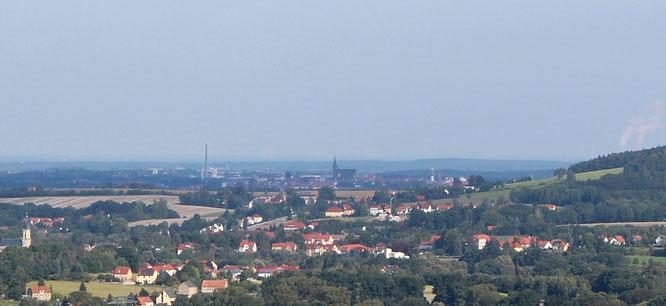 Blick von Crostau nach Bautzen