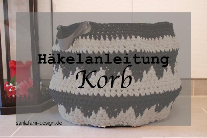 DIY Korb Häkeln. Einfach und kostenlose Anleitung.