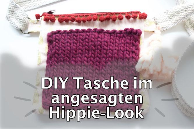 DIY Tasche im angesagten Hippie Look. Kostenlose Anleitung.