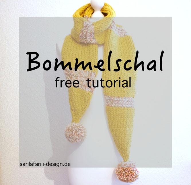 Schal mit Bommeln. Kostenlose Anleitung.